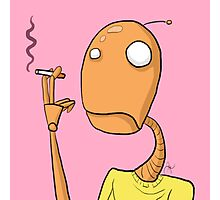 Robot is a Smoker Photographic Print