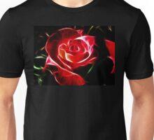 Red Rose Fractalius Unisex T-Shirt
