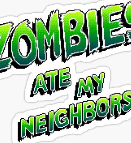 Zombies Ate My Neighbors (SNES\Genesis) Title Screen Sticker