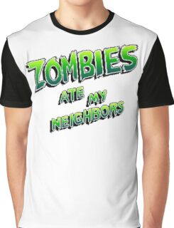 Zombies Ate My Neighbors (SNES\Genesis) Title Screen Graphic T-Shirt