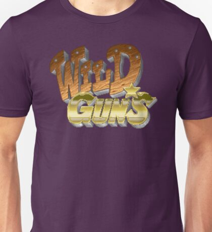 Wild Guns (SNES) Title Screen Unisex T-Shirt