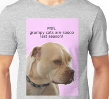 Bailey the Tripod Dog... Last Season Pink Unisex T-Shirt