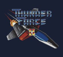 Thunder Force 2 (Genesis) Title Screen One Piece - Short Sleeve