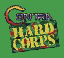 Contra Hard Corps (Genesis) title Screen One Piece - Short Sleeve