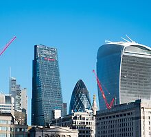 City of London Three Famous Buildings  by Martin Berry Photography