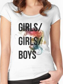 Girls/Girls/Boys Panic! At The Disco Women's Fitted Scoop T-Shirt