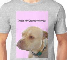 Bailey the Tripod Dog, Mr Grumpy pink Unisex T-Shirt