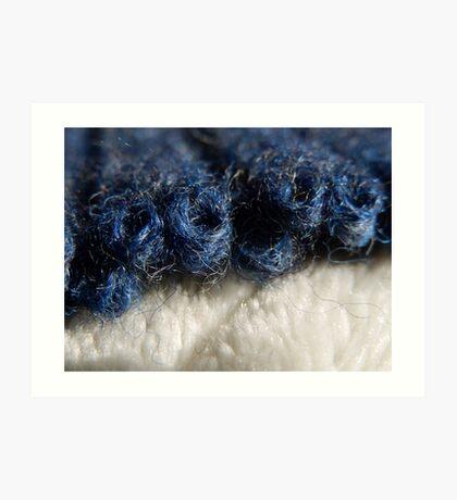 BLUE WOOL - KNIT STITCHES Art Print