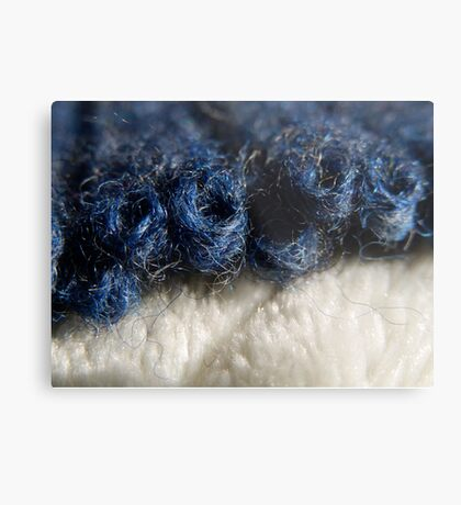 BLUE WOOL - KNIT STITCHES Metal Print