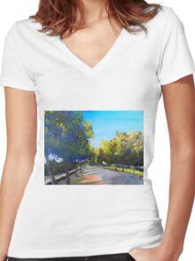 Malden Victoria Australia Women's Fitted V-Neck T-Shirt