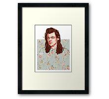 floral Harry Framed Print