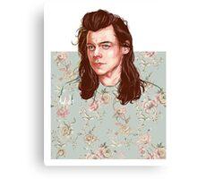 floral Harry Canvas Print
