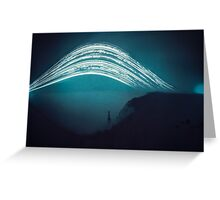 3 month exposure at Beachy head lighthouse UK Greeting Card