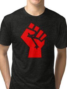 Socialist Fist Tri-blend T-Shirt