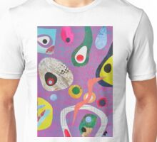 Pebbles And Loop On Pink Blue Streams Unisex T-Shirt