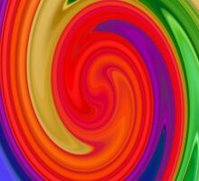 Ying Yang Rainbow Swirl Background Sticker
