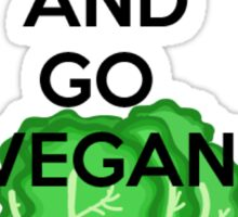 Romaine Calm and Go Vegan Sticker
