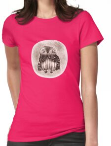 Little Owl Sitting In a Hollow Womens Fitted T-Shirt