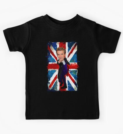 12th Doctor Egg Head Caricature Kids Tee