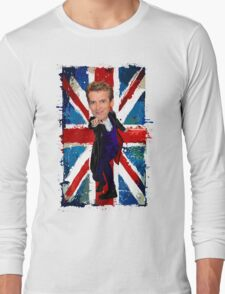 12th Doctor Egg Head Caricature Long Sleeve T-Shirt