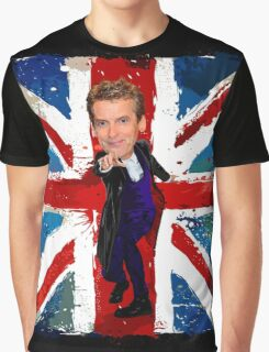 12th Doctor Egg Head Caricature Graphic T-Shirt