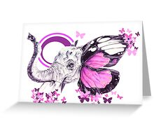 The Pink elephant (purple) Greeting Card
