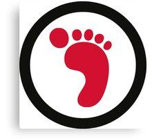 Ecological Footprint Canvas Print