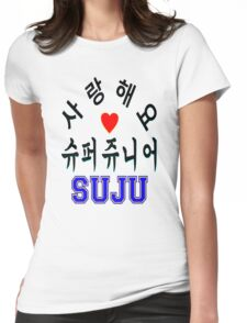 ♥♫SaRangHaeYo(I Love You) K-Pop Boy Band-Super Junior Clothes & Phone/iPad/Laptop/MackBook Cases/Skins & Bags & Home Decor & Stationary♪♥ Womens Fitted T-Shirt