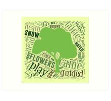 Two fairies Poetry - Word Art Art Print