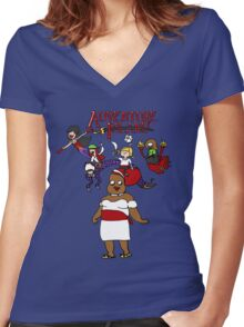 Adventure Island Women's Fitted V-Neck T-Shirt