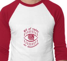Queensland Bill of Rights Men's Baseball ¾ T-Shirt