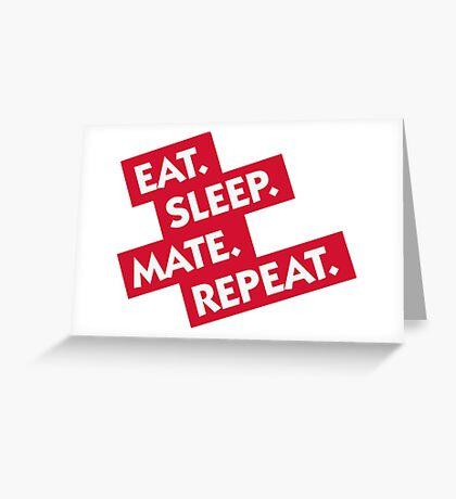 Essen. Sleeping. Multiply. Repeat. Greeting Card