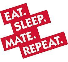 Essen. Sleeping. Multiply. Repeat. Photographic Print
