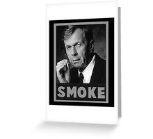 Smoke Greeting Card