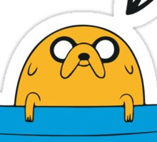 Jake is here for adventure Sticker