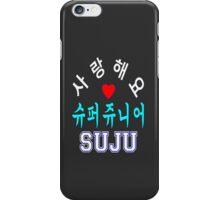 ㋡♥♫SaRangHaeYo(I Love You) K-Pop Boy Band-Super Junior Clothing & Stickers♪♥㋡ iPhone Case/Skin
