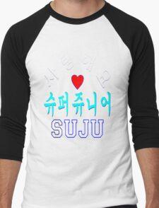 ㋡♥♫SaRangHaeYo(I Love You) K-Pop Boy Band-Super Junior Clothing & Stickers♪♥㋡ Men's Baseball ¾ T-Shirt