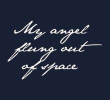 my angel, flung out of space. by ElyB