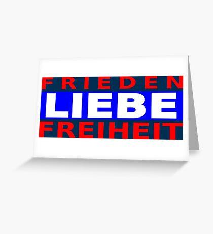 Frieden Liebe Freiheit Greeting Card