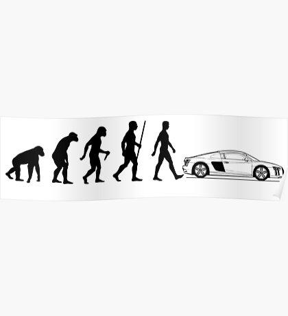 Evolution of Man - Audi R8/R10 Poster