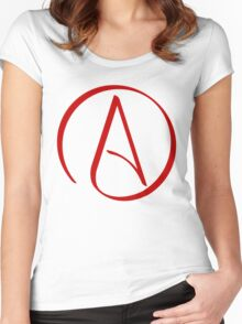 Atheist Symbol Women's Fitted Scoop T-Shirt