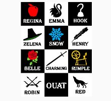 OUAT T-Shirt. Regina, Emma, Hook, Zelena, Snow, Henry, Belle, Charming, Rumple, Robin, Red Unisex T-Shirt