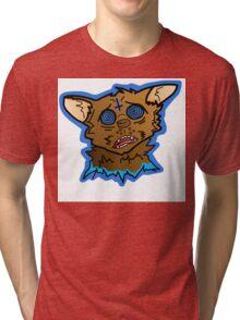 Trippy Acid Cat Tri-blend T-Shirt