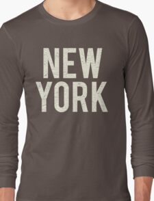 New York (Vintage Decay Version) Long Sleeve T-Shirt
