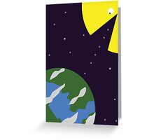 Pac-man eating the world Greeting Card