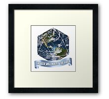 The Geek will inherit the Earth Framed Print