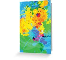 Colorful Ink Splash Greeting Card