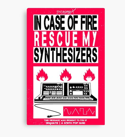 DramatiX | In Case of Fire Canvas Print