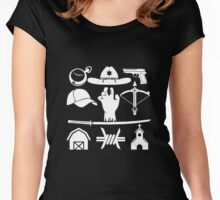 The Walking Dead - Symbols Women's Fitted Scoop T-Shirt