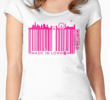 BARCODED IN LONDON Women's Fitted Scoop T-Shirt